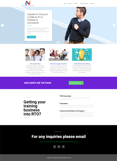 Glenmore Ventures website
