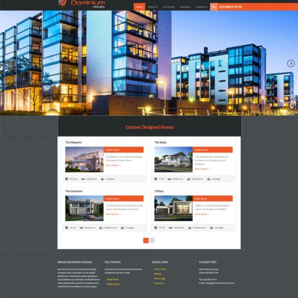 Dominium Homes Website